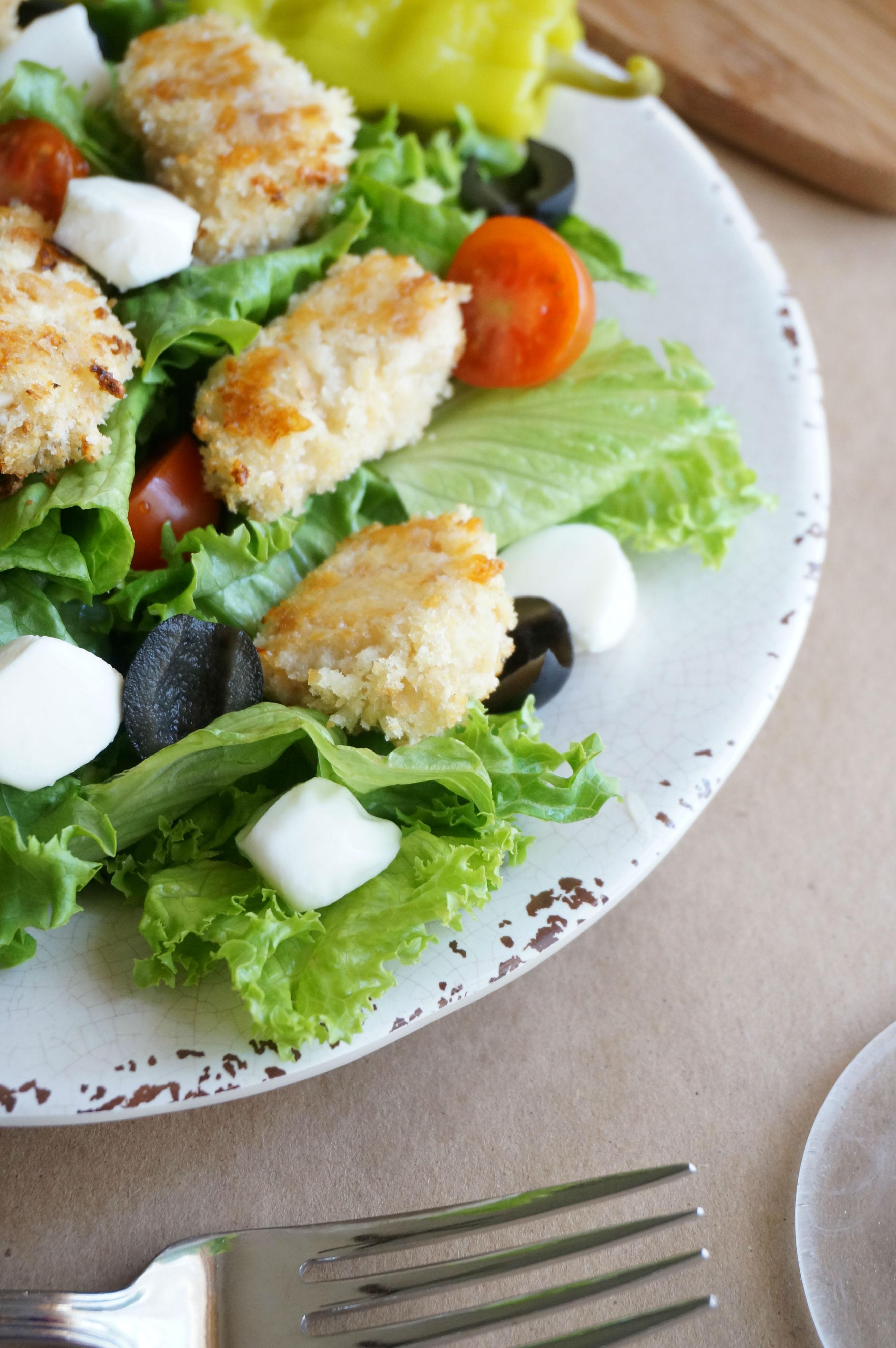 Chicken Parmesan Salad with Balsamic Vinaigrette