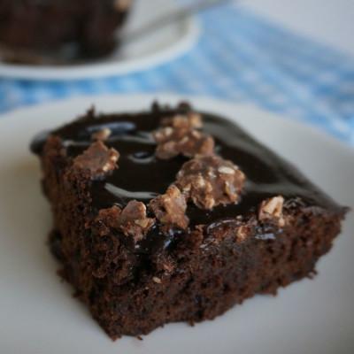 Fudge Brownies with Hazelnut Ganache