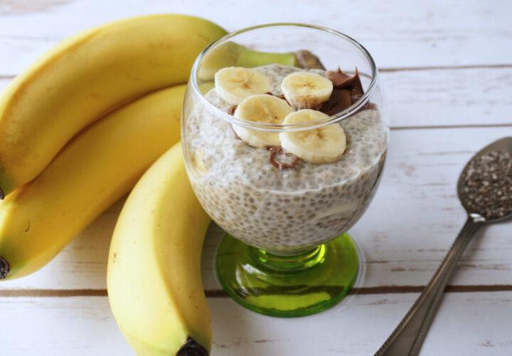chunky monkey chia breakfast puddiing