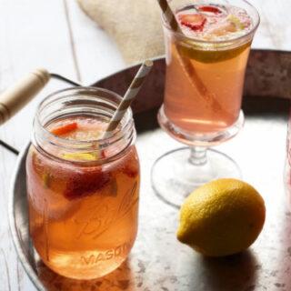 Strawberry Lemonade Shandy