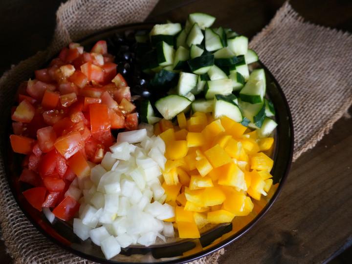 Greek Tomato Salad Chopped Veggies