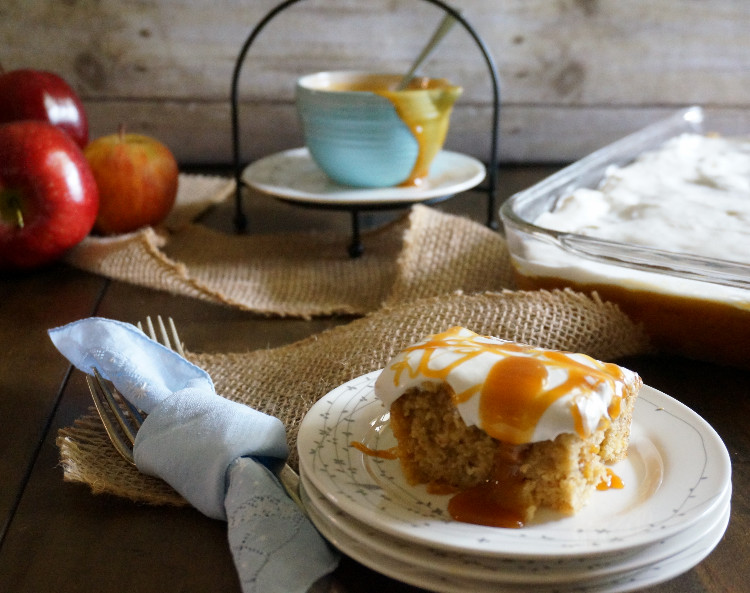 Apple Butterscotch Caramel Cake