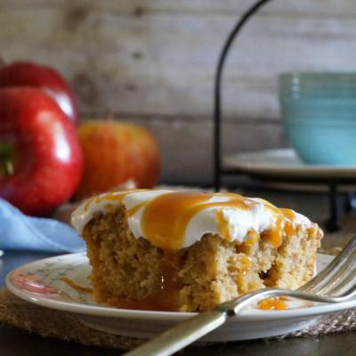 Apple Butterscotch Caramel Cake
