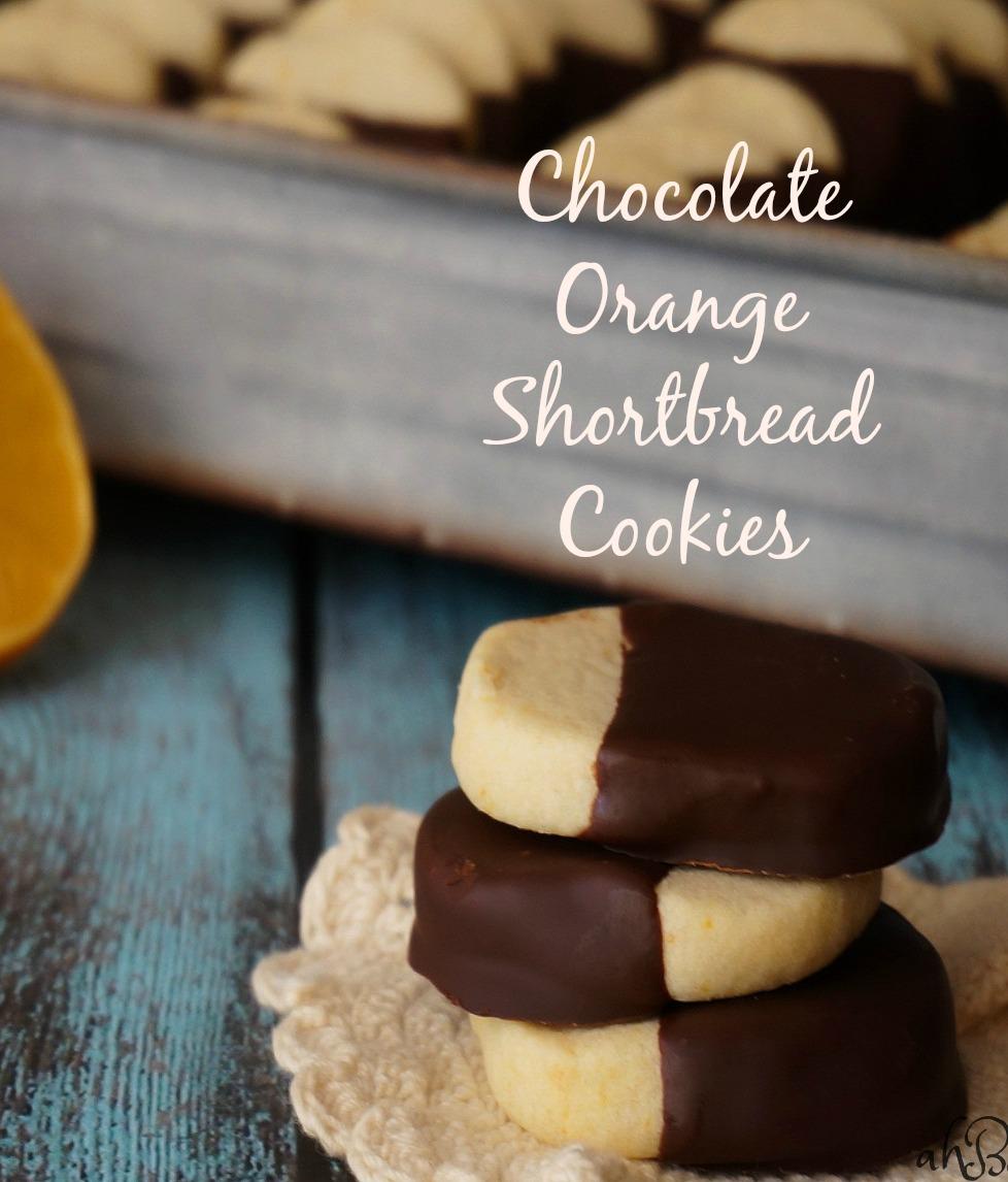 Chocolate Orange Shortbread Cookies - Accidental Happy Baker