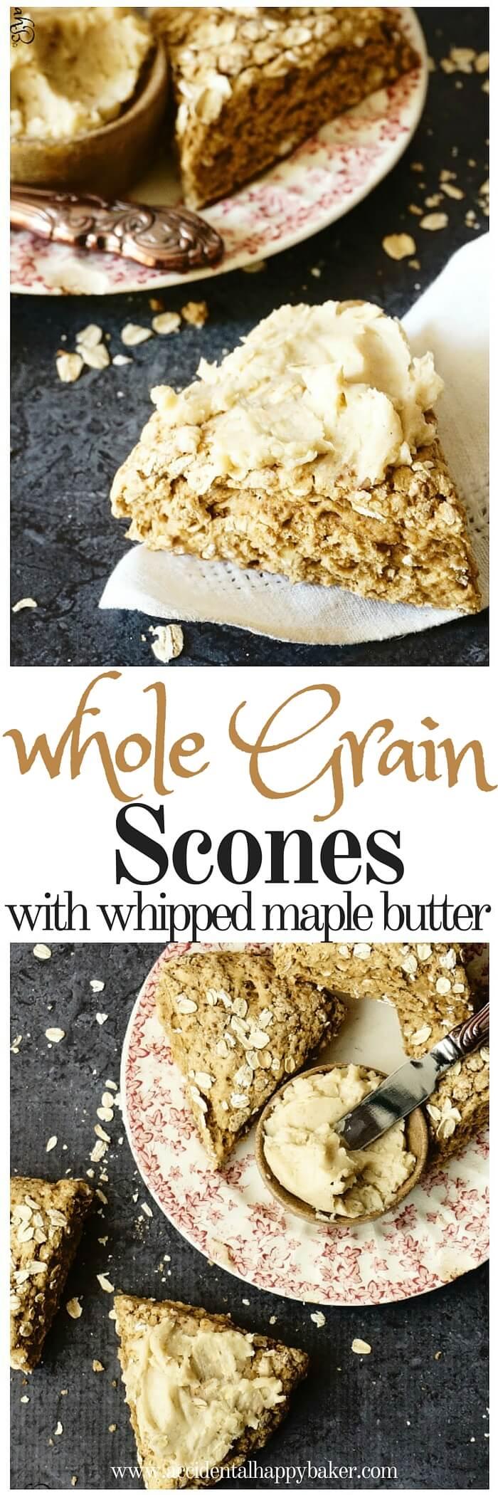 Whole Grain Scones with creamy Maple Butter