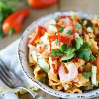 Sriracha Shrimp Pasta Salad