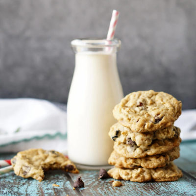 Triple Berry Chocolate Chip Oatmeal Cookies