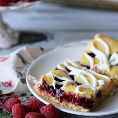 Raspberry Cream Cheese Squares
