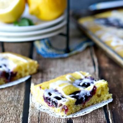 Lemon Poppy Seed Blueberry Squares