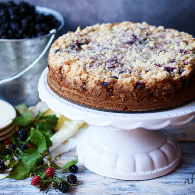Blackberry Crumb Kuchen