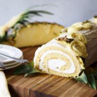 Pina Colada Swiss Cake Roll