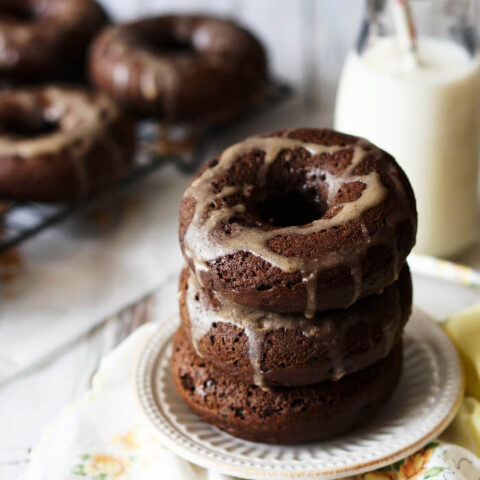 Chocolate Zucchini Donuts