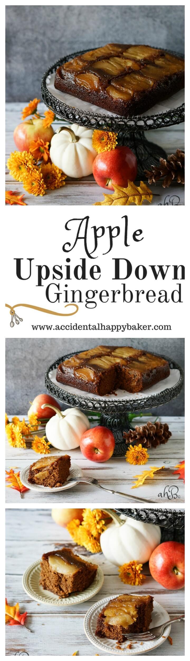 Apple Upside Down Gingerbread