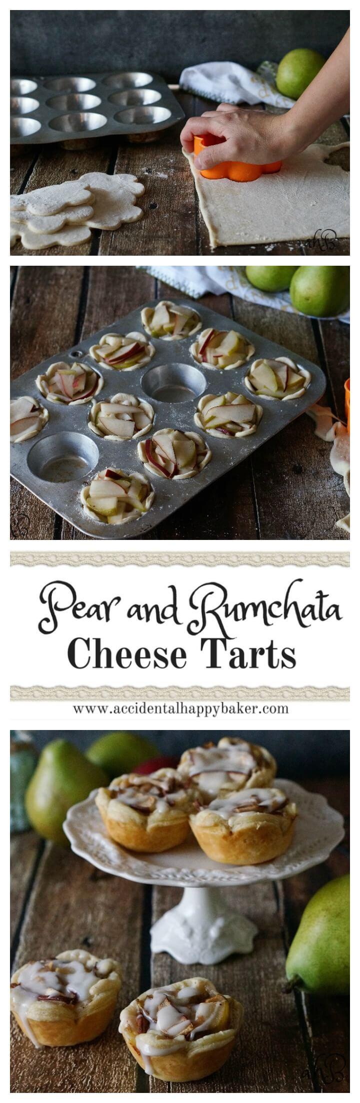 Pear Rumchata Cheese Tarts