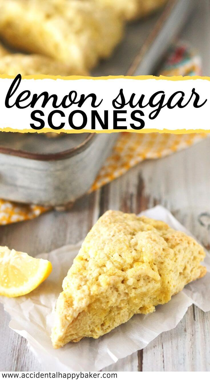 Lemon sugar scones are light and tender, with a delicate and natural lemon flavor. Perfect for nibbling alongside your favorite cup of tea.
