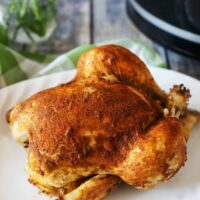 This crockpot roasted chicken recipe is one you'll come back to time after time. Homestyle chicken is so easy to prepare and so versatile. Recipe on www.accidentalhappybaker.com @AHBamy