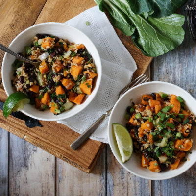 Sweet Potato Sweet Chili Bowls