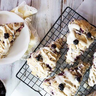 Blackberry Cream Cheese Scones