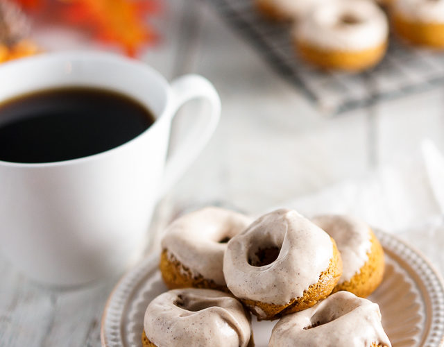 Pumpkin Roll Donuts