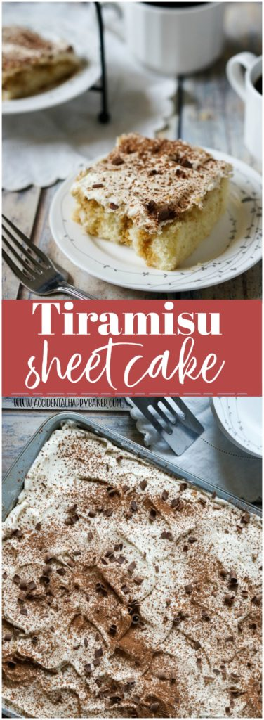 Tiramisu Sheet Cake,