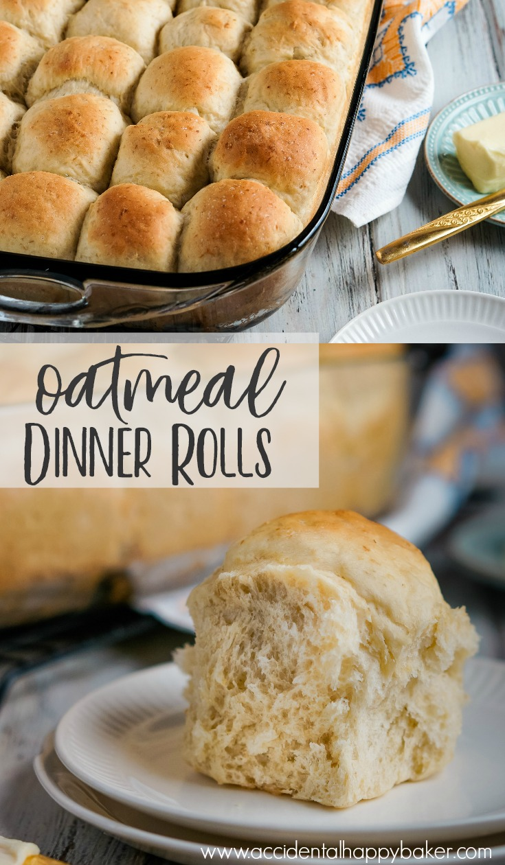 Oatmeal dinner rolls are light and fluffy. Soft and mildly sweet. Easy to make, but taste like perfection. Say hello to your new favorite dinner roll!