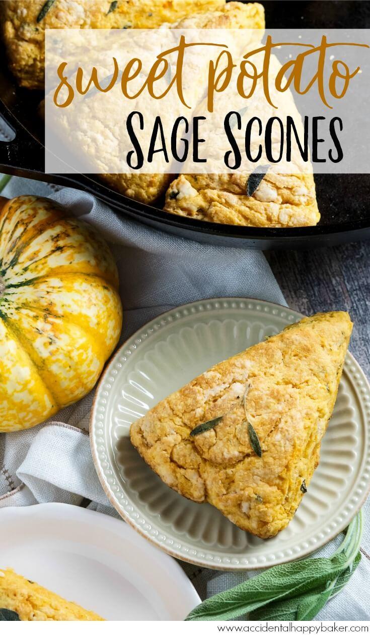 Sweet Potato Sage Scones