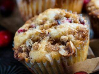Cranberry Crumb Muffins