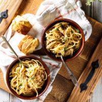 Crockpot Chicken Spaghetti