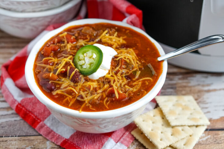 Wendy S Copycat Chili In The Slow Cooker Accidental Happy Baker