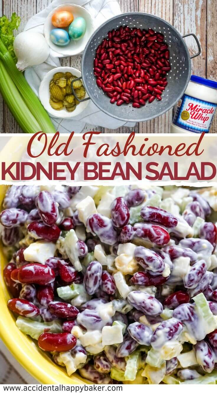 Old Fashioned Kidney Bean Salad Accidental Happy Baker