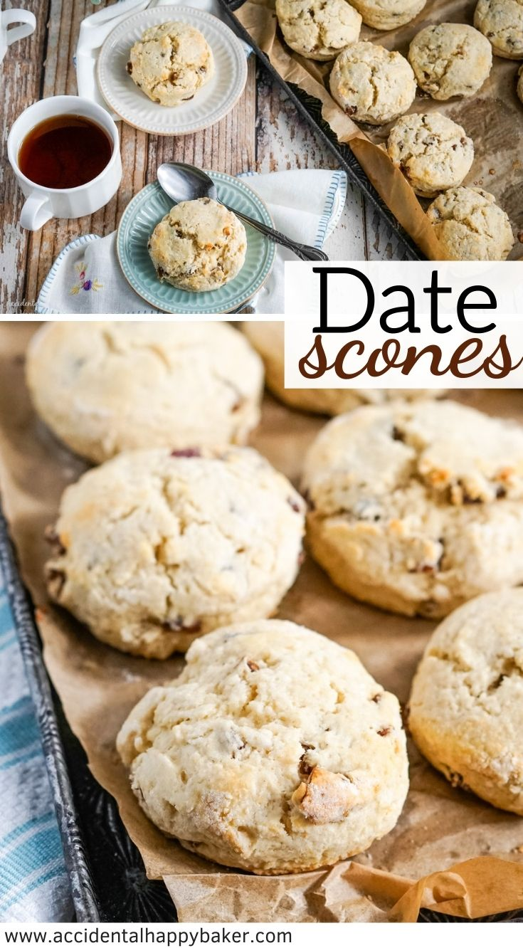 Tender date scones are lightly sweet with a hint of cinnamon. The natural sweetness of the dates as they bake practically melt into brown sugary sweet spots of goodness inside.