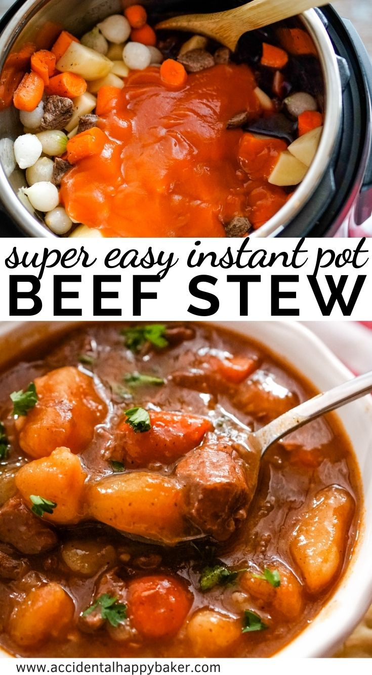 This easy instant pot beef stew recipe takes just a fraction of the time, but still has that amazing homestyle slow cooked taste you're looking for!