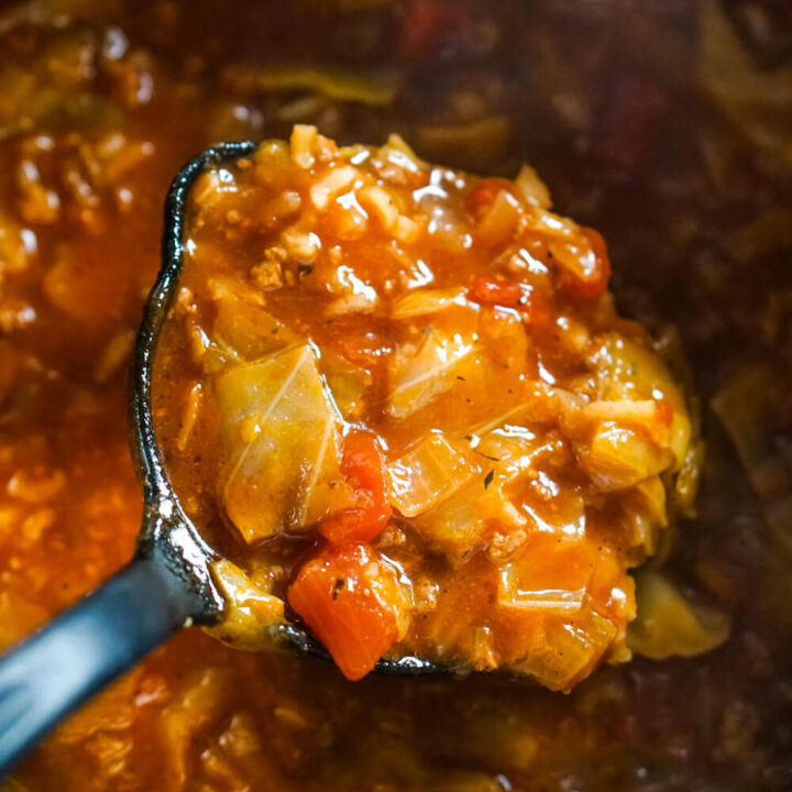 Instant Pot Cabbage Roll Soup ( with stove-top directions included)