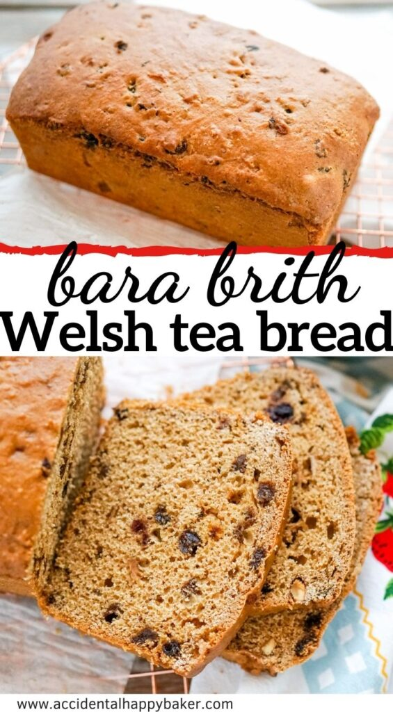Bara brith or Welsh tea bread is a super easy rich Welsh fruit loaf made with tea. This quick bread only takes a few ingredients to make and a few steps. Non-traditonal method and recipe.
