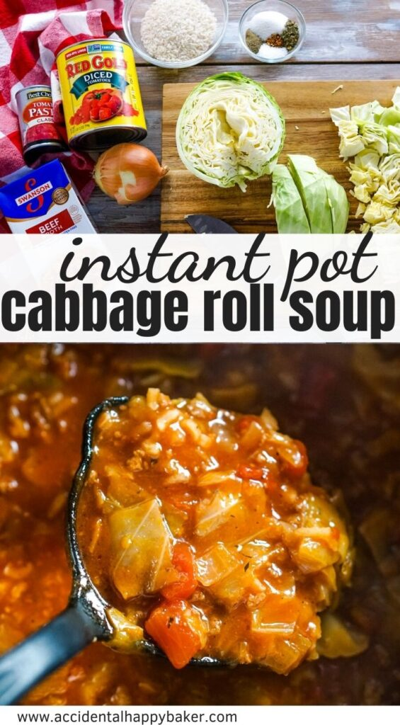 Instant pot cabbage roll soup is not only a cheap and easy recipe that makes a great weeknight dinner; it's also so hearty, healthy, and absolutely delicious.  Stove top directions included.