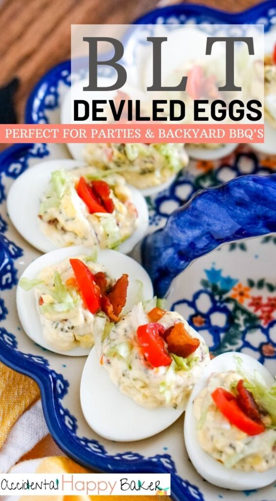 Loaded with bacon, ranch and tomato, then topped with lettuce, these BLT deviled eggs have all the flavors of a BLT sandwich!